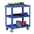 Works 3-Tier Trolley Blue (W500 x D820 x H900mm, 150kg Capacity) 329946