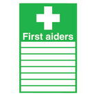 First Aiders (300 x 200mm) Safety Sign - FA01926R