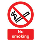 Safety A4 PVC No Smoking Sign - ML02079R