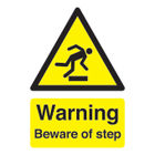 Warning Beware of Step A5 Self-Adhesive Safety Sign - HA21451S