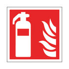 Safety Sign Fire Extinguisher Symbol 100x100mm Self-Adhesive (Pack of 5) KF44A/S