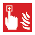 Safety Sign Fire Alarm 100 x 100mm (Pack of 5) - F68B/S