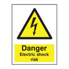 Danger Electric Shock Risk A5 PVC Safety Sign - HA10751R