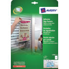 Avery Adhesive Sign Pockets 304x221mm White Pack L7083-10