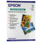 Epson Premium White A3 Matte Photo Paper, 192gsm - 50 Sheets - C13S041344