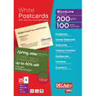 DECAdry White Micro-Perforated Postcards, Pack of 100 - OCB3325