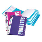 Snopake 8 Part FileLastic File, Assorted - Pack of 5 - 14965