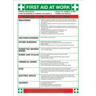 First Aid At Work 420 x 590mm Safety Sign - WC61