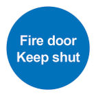 Fire Door Keep Shut 100 x 100mm PVC Safety Sign - FR07002R