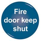 Domed 60mm Fire Door Keep Shut Sign - RDS9