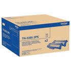 Brother TN-3390 Black High Yield Laser Toner Cartridge, Twin Pack - TN3390TWIN
