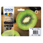 Epson 202 B/C/M/Y/PB Inkjet Cartridge, Pack of 5 - C13T02E74010