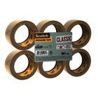 Scotch Buff Packaging Tape Polypropylene 50mmx66m (Pack of 6) C5066SF6