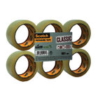 Scotch Tape - Clear Packaging Tape, 50mm x 66m - Pack of 6 - C5066SF6