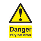 Danger Very Hot Water (75 x 50mm) Safety Sign  - HA17343R