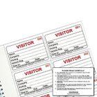 IdentiBadge Visitors Book Badge Refills, 60x90mm, Pack of 300 - IBRSYS300