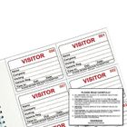 IdentiBadge Visitors Book Badge Refills, 60x90mm, Pack of 300 - IBRSYS300