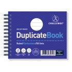 Challenge Carbonless Duplicate Ruled Book, 50 Slips (Pack of 5) - C63075