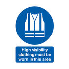 High Visibility Clothing Must Be Worn A4 PVC Safety Sign - MA02150R
