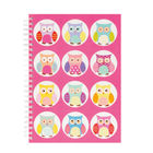 Go Stationery A5 Pink Owls Notebook | 5NC300A