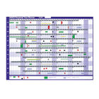 Sasco Magnetic Perpetual Year Wall Planner 2400001