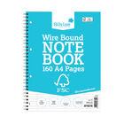 Silvine A4 Wirebound FSC Premium  Notebooks - Pack of 5 - FSCTW80
