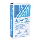 Artline 750 Black Bullet Tip Fine Laundry Markers, Pack of 12 - A750