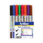 Artline Assorted 2-in-1 Whiteboard Markers, Pack of 8 - EK-541T-WB