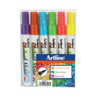 Artline Assorted Fine Glassboard Markers, Pack of 6 - EPG-4W6ASS
