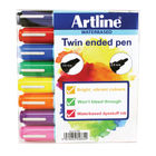Artline 2-in-1 Assorted Flipchart Markers, Pack of 8 - EK-325T-W8