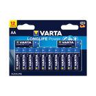 VARTA Long Life Alkaline AA Batteries, Pack of 12 - 4906121482