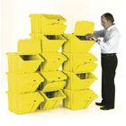 VFM Yellow Heavy Duty Recycle Bin/Lid (Pack of 12) 369053