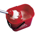 2Work 15 Litre Red Plastic Mop Wringer Bucket - 102946