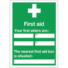 Safety Sign First Aid (600 x 450mm) - E91A/S