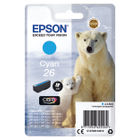 Epson 26 Cyan Ink Cartridge - C13T26124012