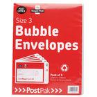 PostPak Size 3 Bubble Envelopes, Pack of 40 - 41631