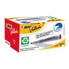 BIC Red Velleda Whiteboard Markers, Pack of 12 - 1199170103
