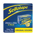 Sellotape Original Golden Tape 24mmx33m (Pack of 6) 1443254