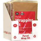 PostPak Brown Parcel Wrapping Kit, Pack of 10 - 39124016