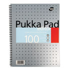 Pukka Pad Silver A4 Wirebound Editor Notebook, Pack of 3 - EM003