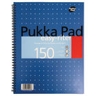 Pukka Pad Wirebound Easy-Riter Blue A4 Ruled Notebooks (3 Pack) ERM00