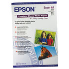 Epson Premium White A3+ Glossy Photo Paper, 255gsm - 20 Sheets - C13S041316