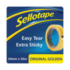 Sellotape Original 24mm x 50m Golden Tapes, Pack of 12 - 1682926