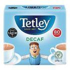 Tetley Decaffeinated Tea Bags - Pack of 80 - NWT1111