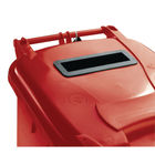 Confidential Waste Wheelie Bin 120 Litre Red 377902