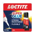 Loctite 3g Power Flex Gel Super Glue, Pack of 2 - 2560191