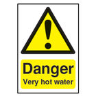 Danger Very Hot Water (75 x 50mm) Safety Sign - HA17343S