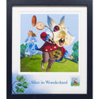 Alice and the White Rabbit Framed Stamp - N3070