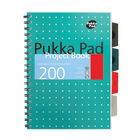 Pukka Pad A4+ Metallic Cover Wirebound Project Books, Pack of 3 - 8521-MET