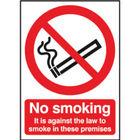Safety Sign 210x148mm No Smoking Self-Adhesive SR72080